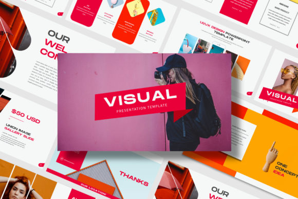 Visual - PowerPoint Template Graphic Presentation Templates By balyastd