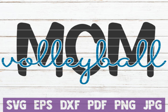 Download Free Volleyball Mom Graphic By Mintymarshmallows Creative Fabrica for Cricut Explore, Silhouette and other cutting machines.
