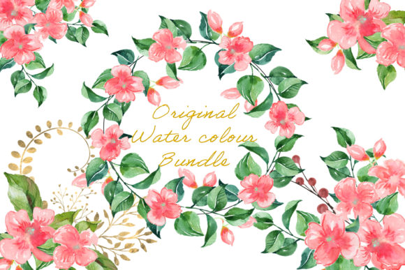 Print on Demand: Watercolour Flower Clipart Bundle Graphic Crafts By The Paper Princess