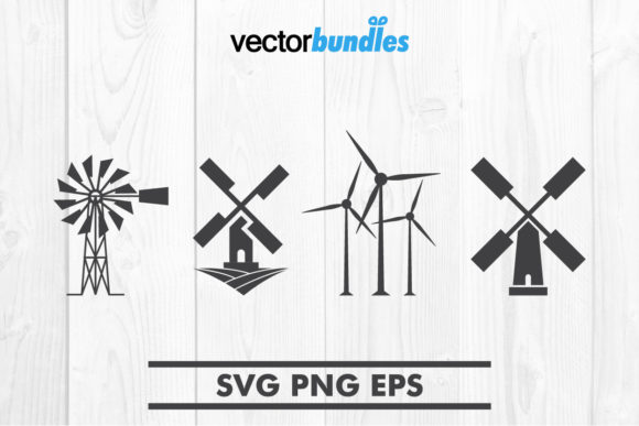 Print on Demand: Windmill Clip Art Graphic Crafts By vectorbundles