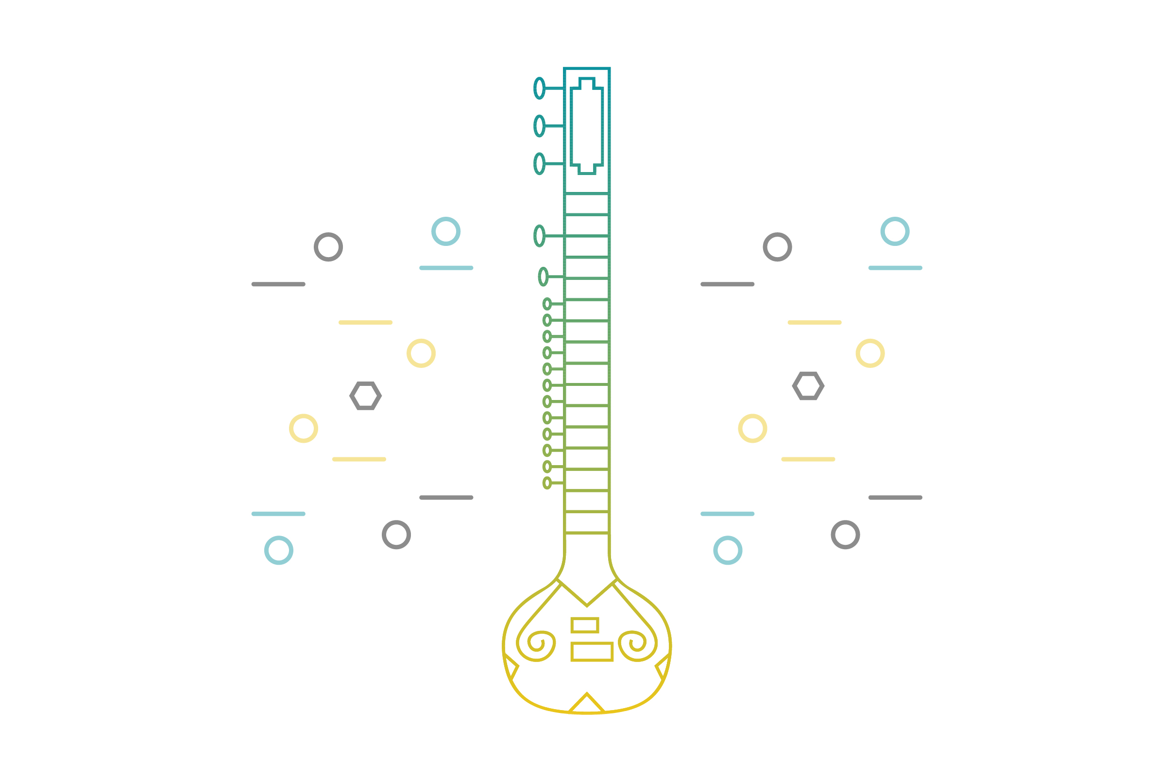 Download Free Banjo Line Art Vector Icon Graphic By Riduwan Molla Creative for Cricut Explore, Silhouette and other cutting machines.