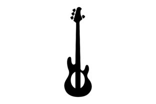 Download Free Bass Guitar Glyph Icon Vector Graphic By Riduwan Molla for Cricut Explore, Silhouette and other cutting machines.
