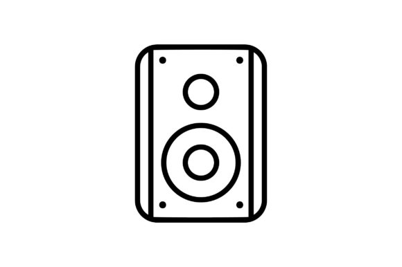 Download Free Sound Box Line Art Icon Vector Graphic By Riduwan Molla for Cricut Explore, Silhouette and other cutting machines.