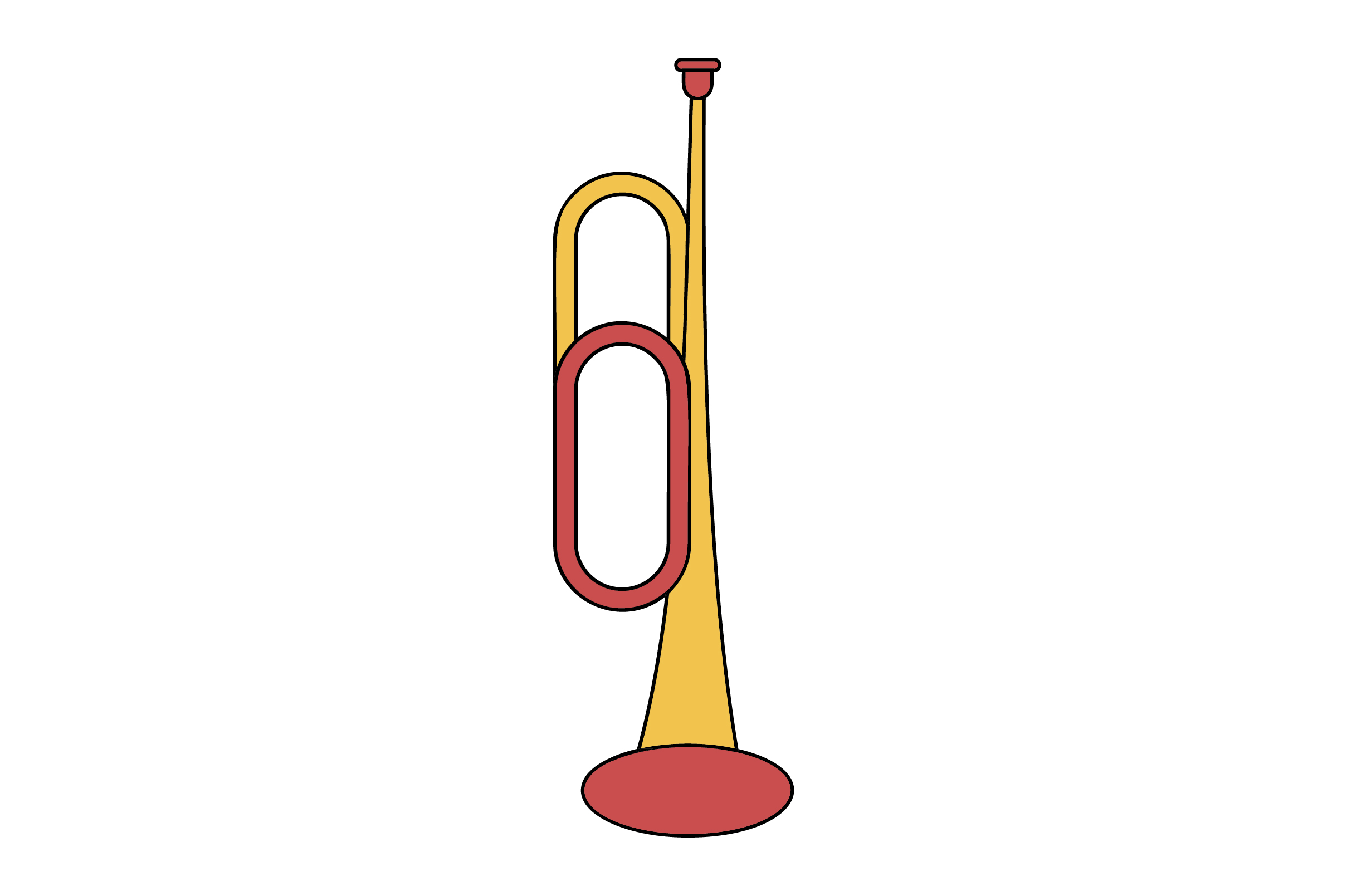 Trumpet Liner Fill Icon Vector Graphic By Riduwan Molla