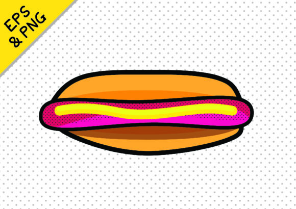Print on Demand: Fun Fast Food Icon Graphic Hotdog Graphic Icons By GraphicsBam Fonts