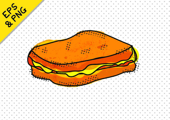 Print on Demand: Fun Fast Food Icon Graphic Toastie Graphic Icons By GraphicsBam Fonts