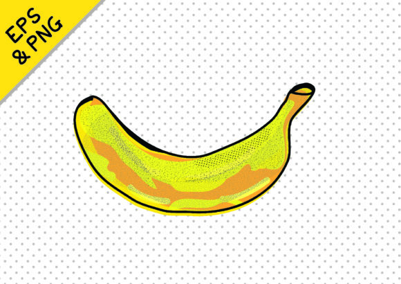 Print on Demand: Funky & Fun Food Graphics Banana Graphic Icons By GraphicsBam Fonts