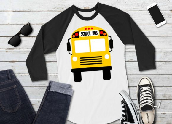 Print on Demand: School Bus Front and Back Graphic Icons By PrintsOfPop - Image 2