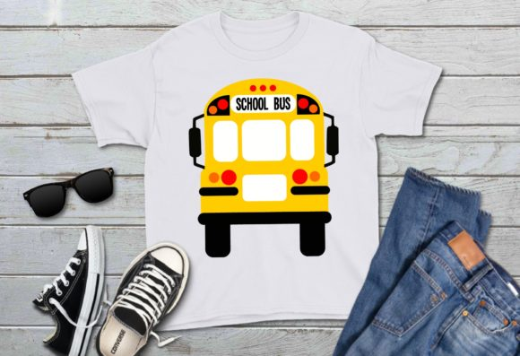 Print on Demand: School Bus Front and Back Graphic Icons By PrintsOfPop - Image 3
