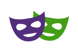 Download Free Theater Mask Icon Graphic By Marco Livolsi2014 Creative Fabrica for Cricut Explore, Silhouette and other cutting machines.