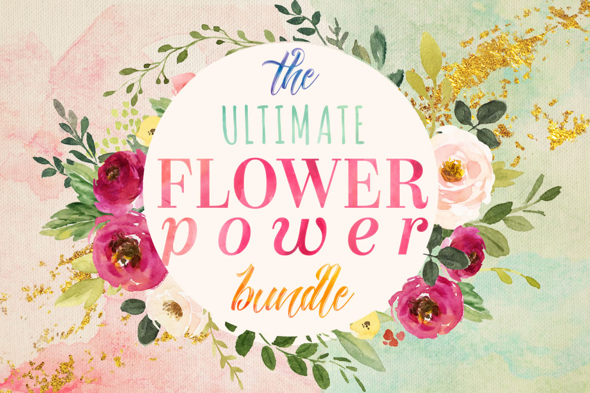 Download Free The Ultimate Flower Power Bundle Bundle Creative Fabrica for Cricut Explore, Silhouette and other cutting machines.