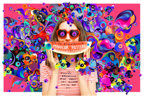 100 Modular Pattern Illustration Graphic Patterns By singpentinkhappy.project