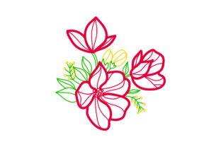 Flower Embellishment  Design Outline Spring Craft Cut File By Creative Fabrica Crafts