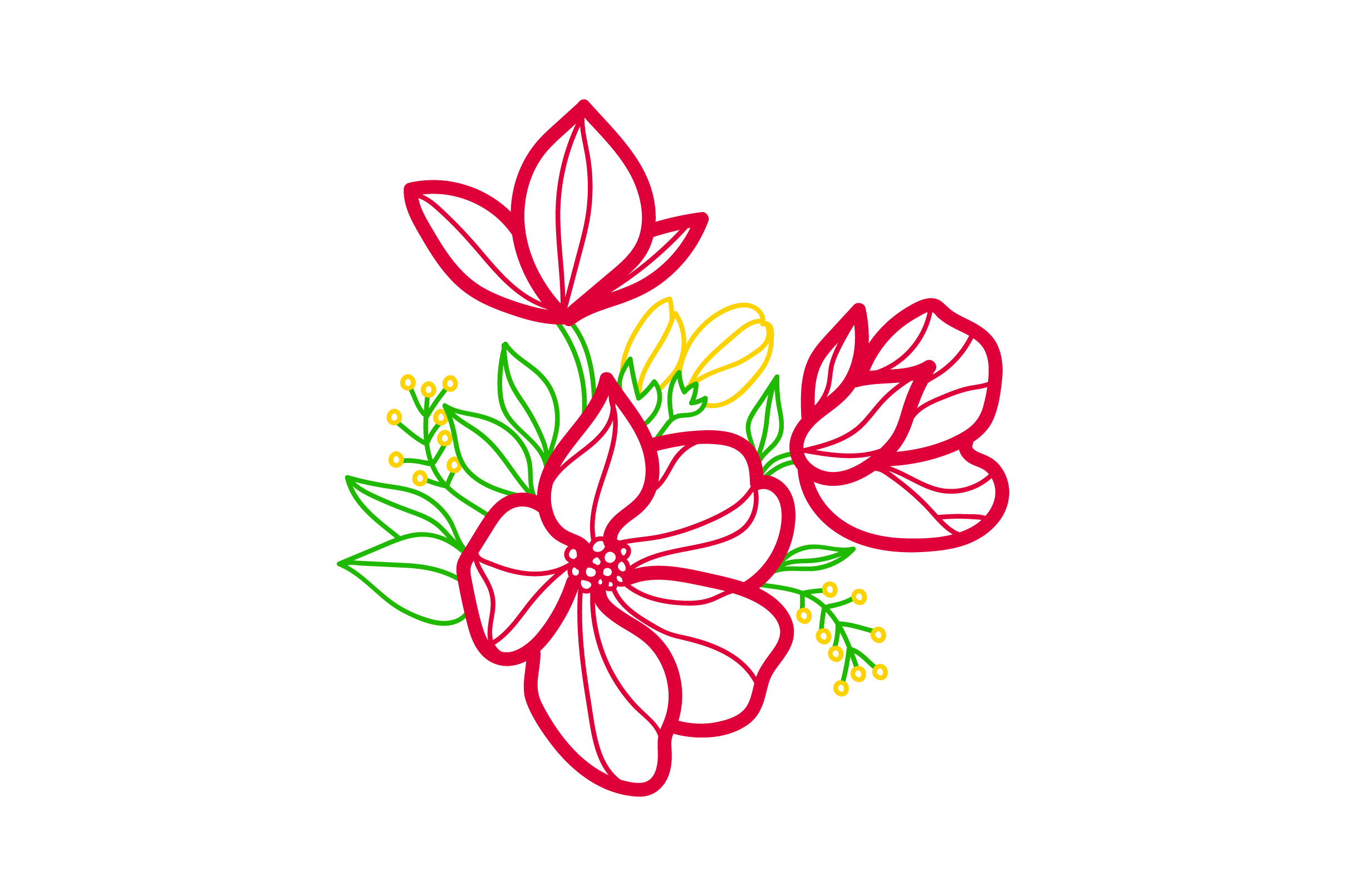 Download Free Flower Embellishment Design Outline Svg Cut File By Creative for Cricut Explore, Silhouette and other cutting machines.