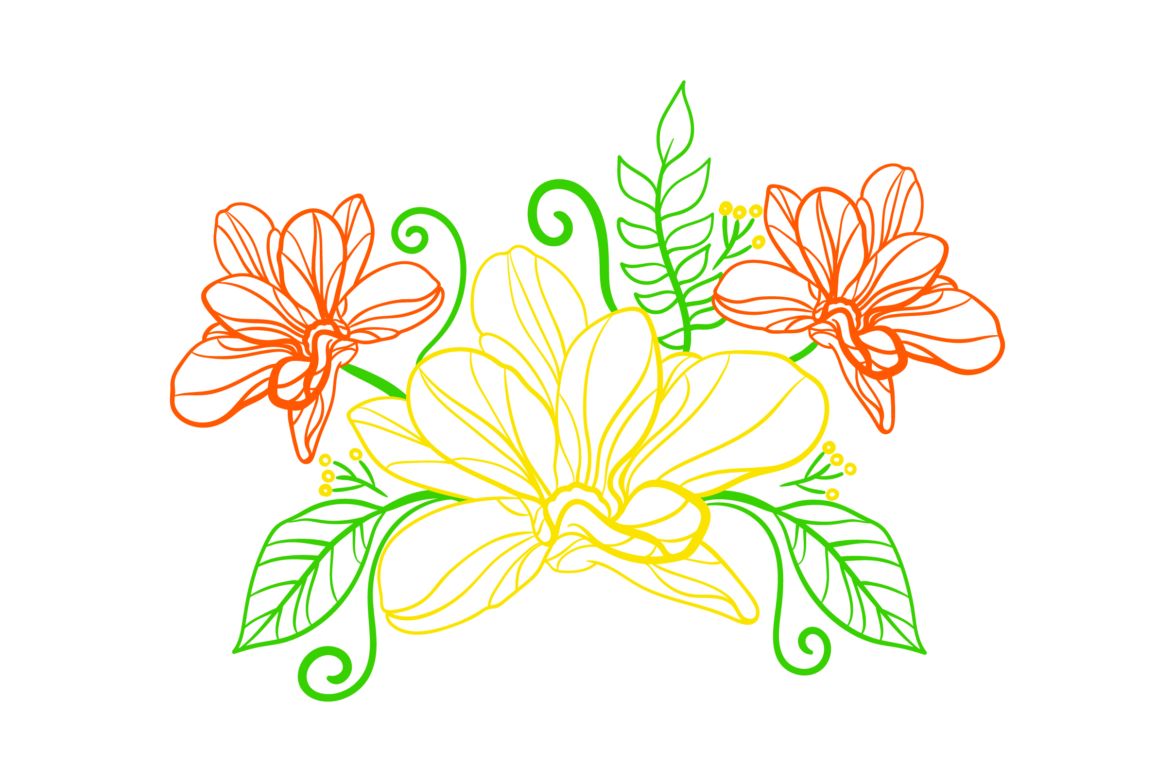 Download Free Flower Embellishment Outline Svg Cut File By Creative Fabrica for Cricut Explore, Silhouette and other cutting machines.