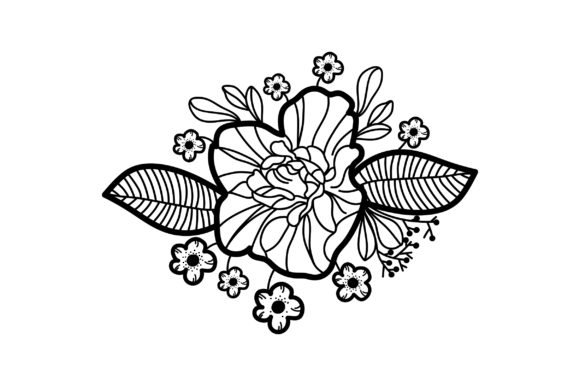 Download Free Purple Flowers Embellishment Outline Svg Cut File By Creative for Cricut Explore, Silhouette and other cutting machines.