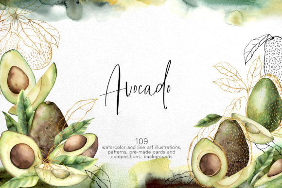 Avocado Graphic Illustrations By y.derbisheva
