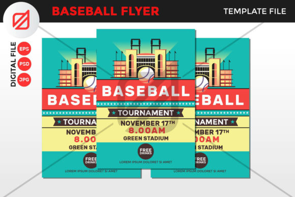 Print on Demand: Baseball Flyer Template Graphic Graphic Templates By illusatrian