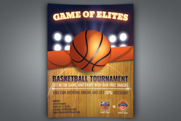 Download Free Basketball Flyer Template Graphic By Owpictures Creative Fabrica for Cricut Explore, Silhouette and other cutting machines.