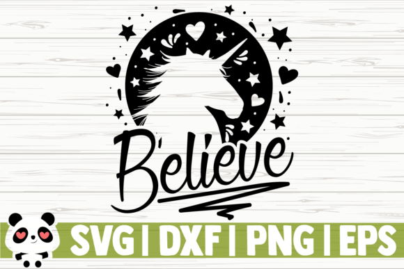 Print on Demand: Believe - Unicorns Graphic Illustrations By CreativeDesignsLLC