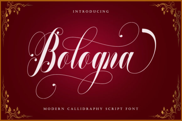 Print on Demand: Bologna Script & Handwritten Font By sapre.studio