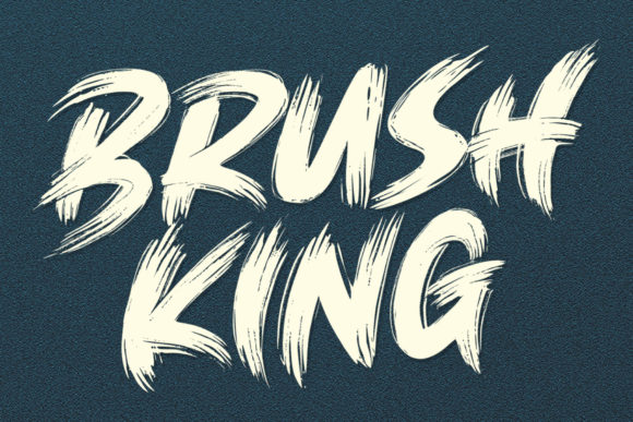 Print on Demand: Brush King Display Font By Subectype