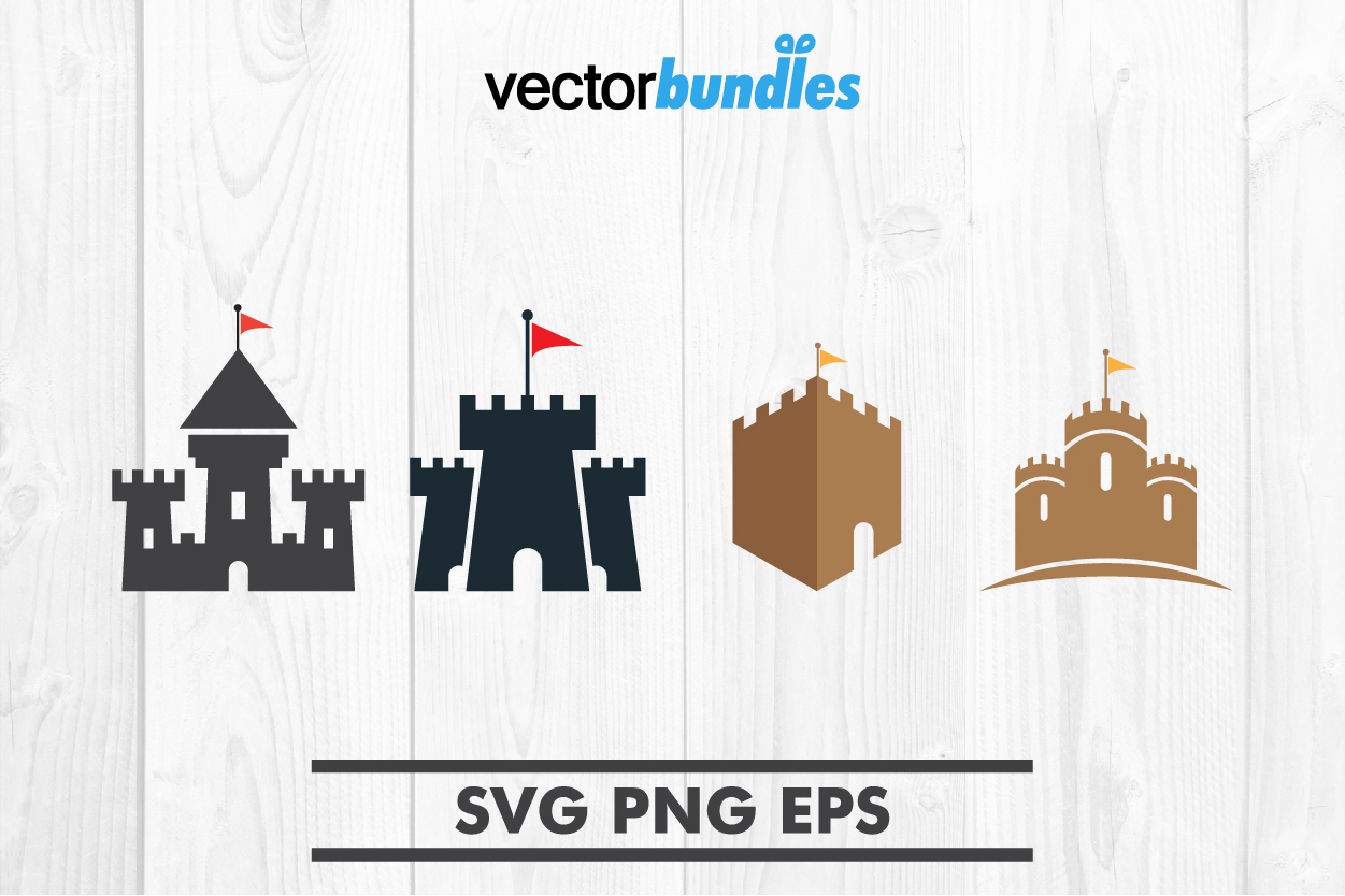 Download Free Castle Clip Graphic By Vectorbundles Creative Fabrica for Cricut Explore, Silhouette and other cutting machines.