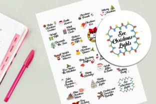 Download Free Christmas Bucket List Digital Stickers Graphic By Am Digital for Cricut Explore, Silhouette and other cutting machines.