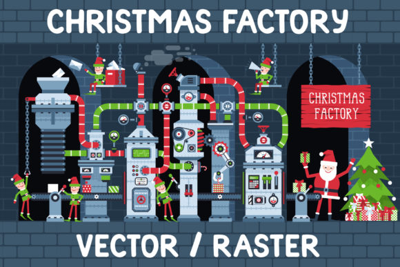 Christmas Factory Graphic Illustrations By Agor2012