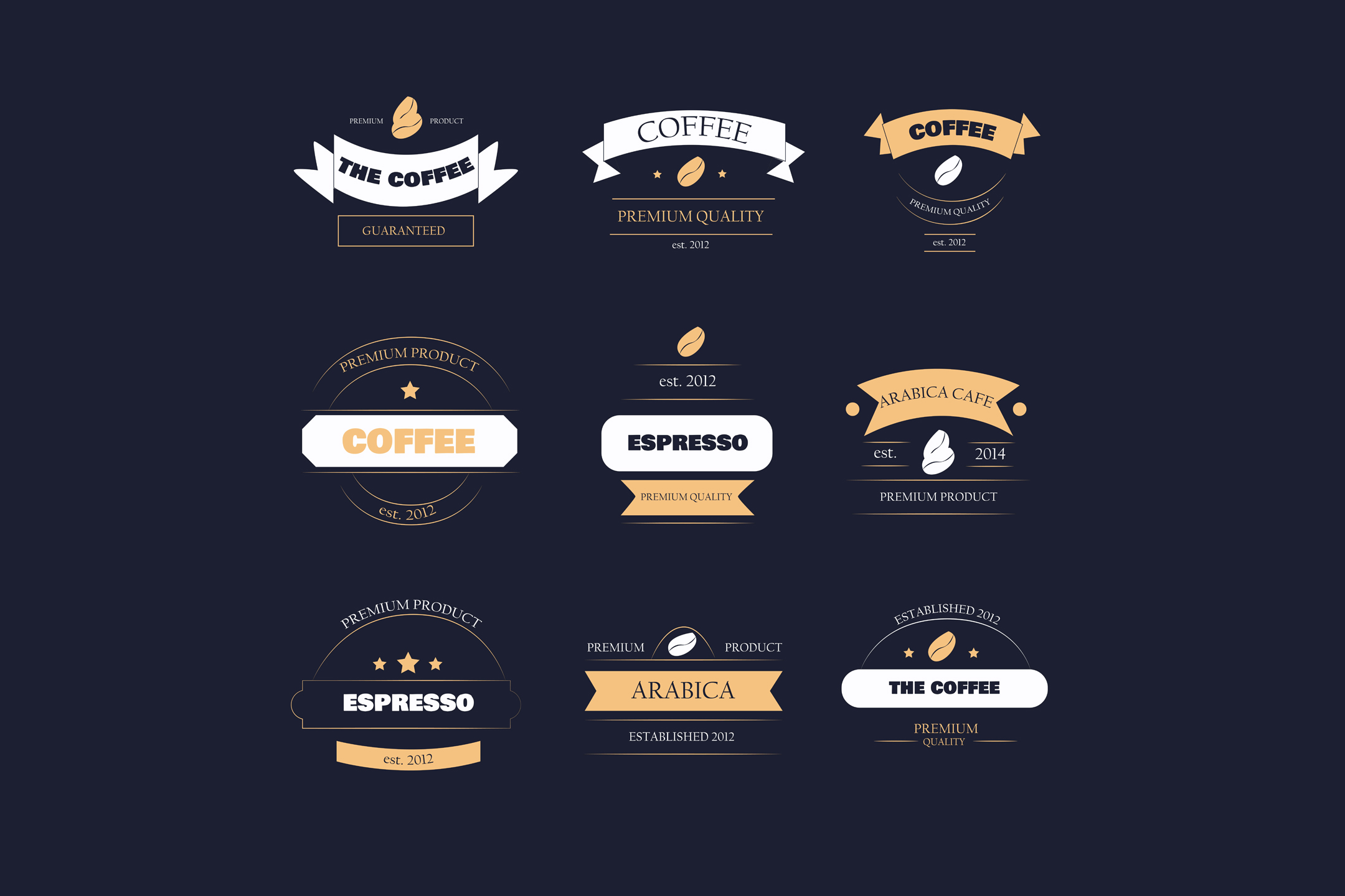 Download Free Coffee Shop Logo Set Creative Fabrica for Cricut Explore, Silhouette and other cutting machines.