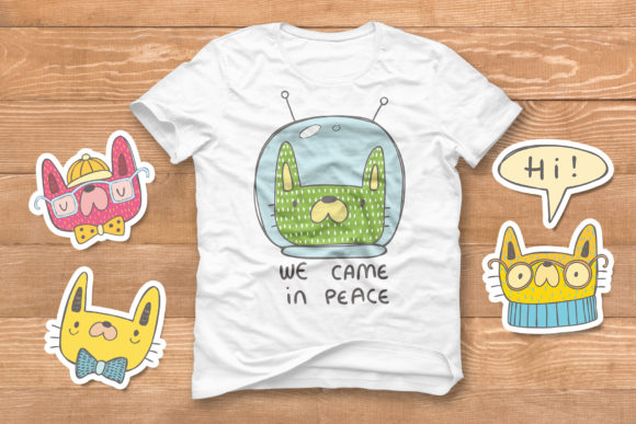 Print on Demand: Collection of Doodle Cats Graphic Illustrations By Architekt_AT - Image 3