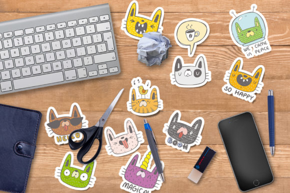 Print on Demand: Collection of Doodle Cats Graphic Illustrations By Architekt_AT - Image 5