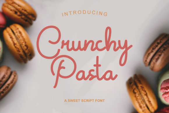 Print on Demand: Crunchy Pasta Script & Handwritten Font By Helotype
