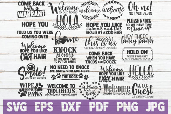 Doormat Vector Bundle | Funny Cut Files Graphic Graphic Templates By MintyMarshmallows - Image 1
