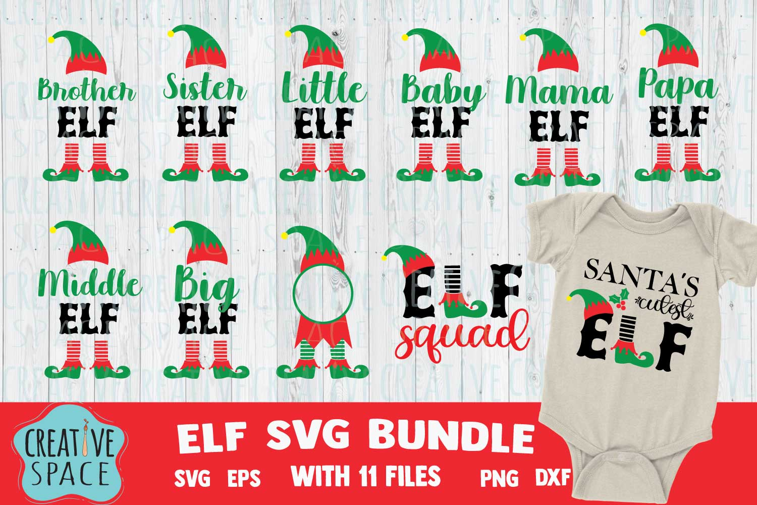 Download Free Elf Bundle Graphic By Creativespace Creative Fabrica for Cricut Explore, Silhouette and other cutting machines.