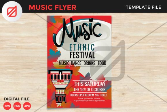 Print on Demand: Ethnic Music Festival Flyer Template V2 Graphic Print Templates By illusatrian