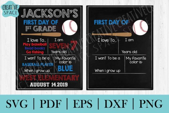 Download First Day of School Chalkboard