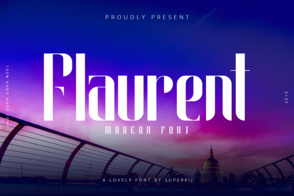 Print on Demand: Flaurent Sans Serif Font By Superkij