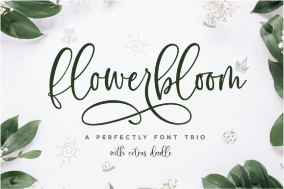 Print on Demand: Flowerbloom Script & Handwritten Font By silverdav