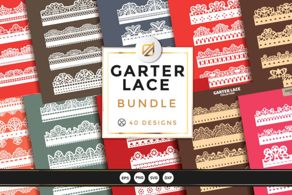 Print on Demand: Garter Lace Bundle Cutting File Graphic Crafts By illusatrian