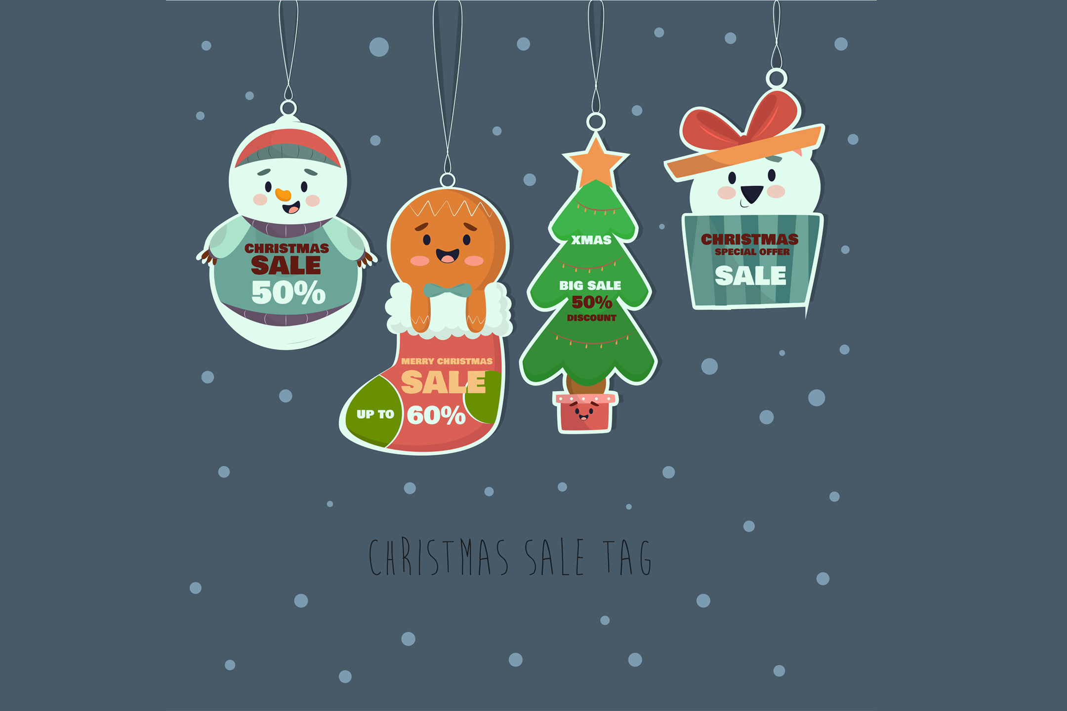 Download Free Hand Drawn Christmas Sale Tag Collection Graphic By Aprlmp276 for Cricut Explore, Silhouette and other cutting machines.