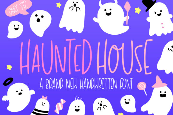 Print on Demand: Haunted House Display Font By Salt & Pepper Designs