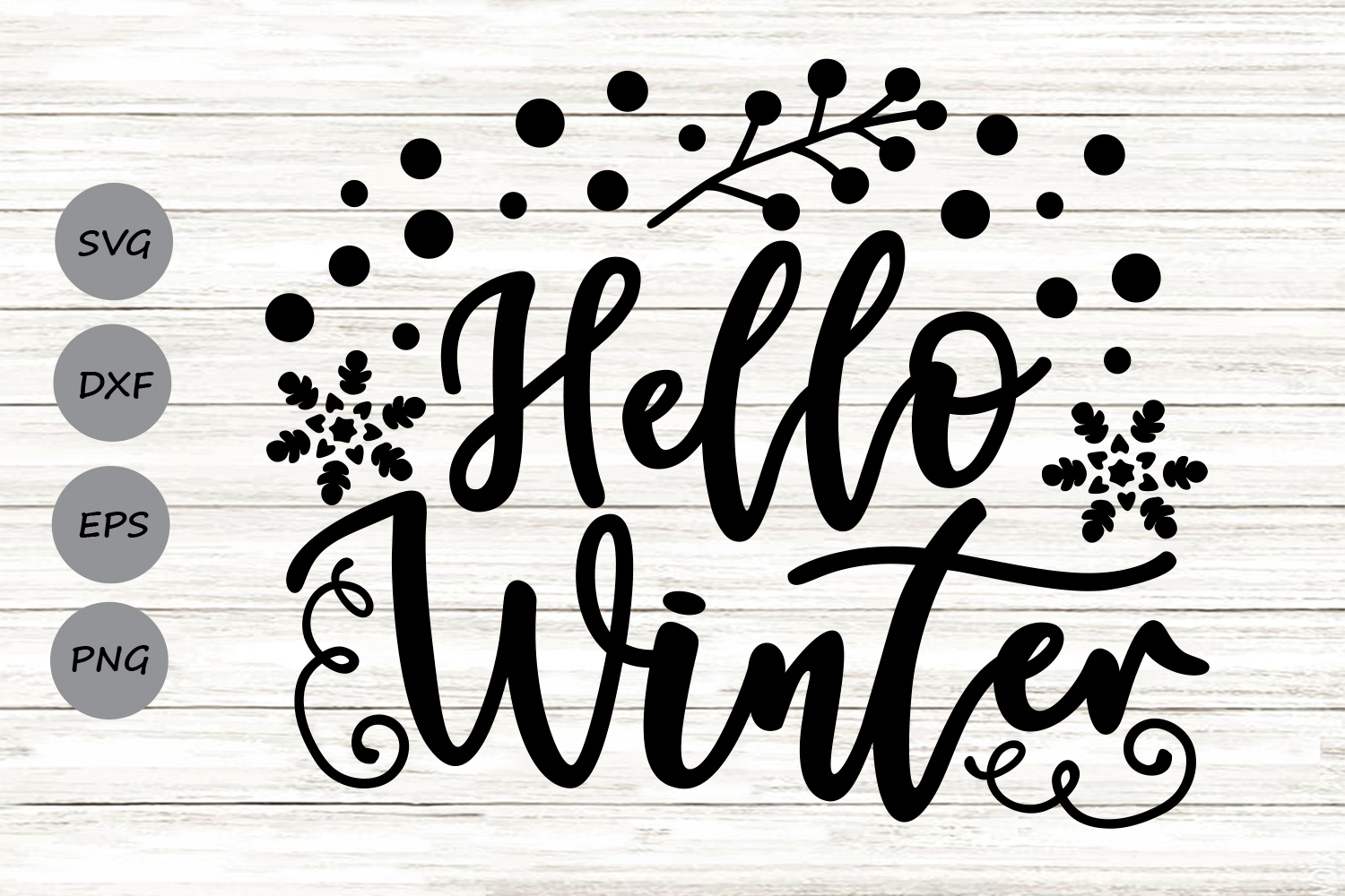 Download Free Hello Winter Graphic By Cosmosfineart Creative Fabrica for Cricut Explore, Silhouette and other cutting machines.