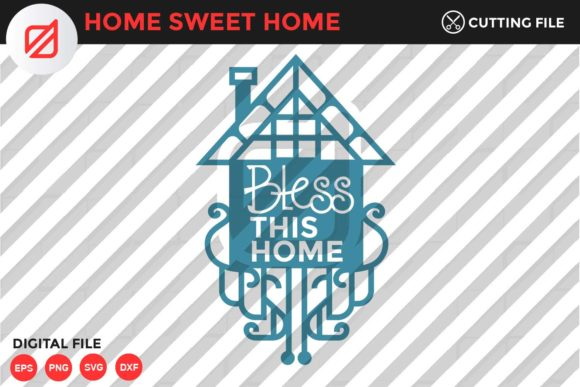 Print on Demand: Home Sweet Home Quote V1 Graphic Crafts By illusatrian