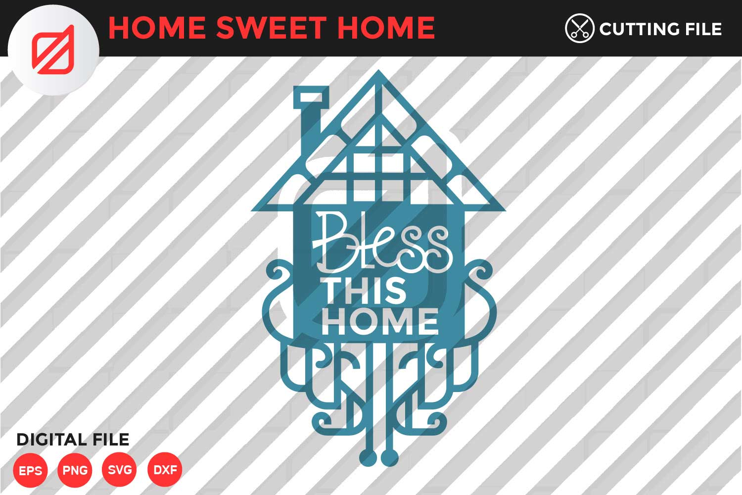 Download Free Home Sweet Home Quote V1 Graphic By Illusatrian Creative Fabrica for Cricut Explore, Silhouette and other cutting machines.