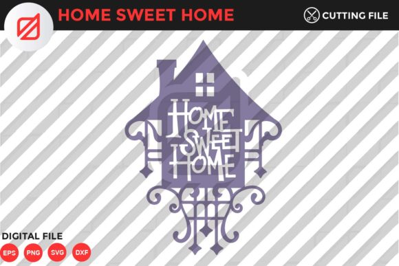 Print on Demand: Home Sweet Home Quote V2 Graphic Crafts By illusatrian