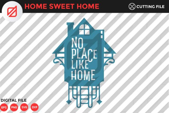 Print on Demand: Home Sweet Home Quote V3 Graphic Crafts By illusatrian