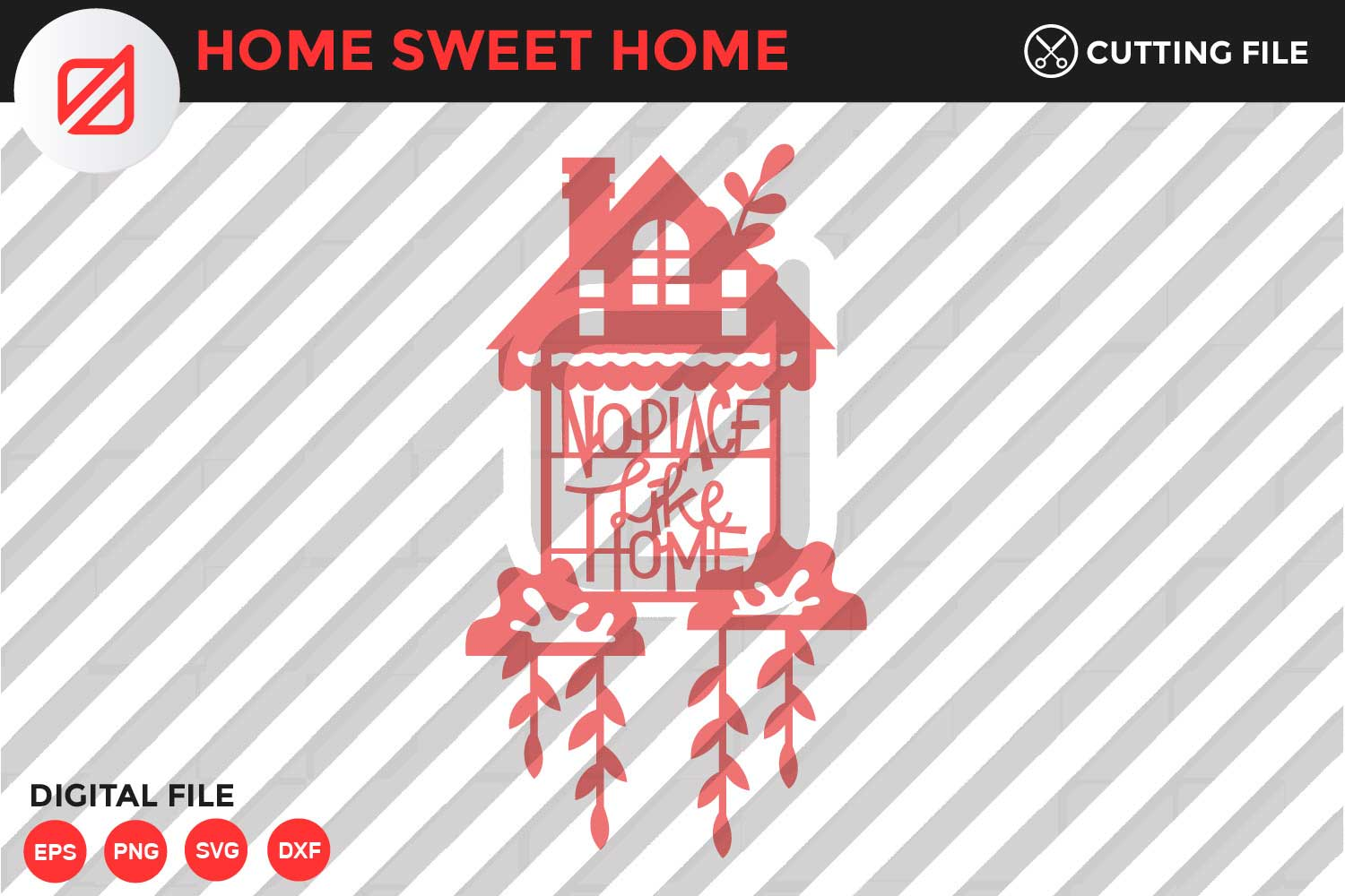Download Free Home Sweet Home Quote V7 Graphic By Illusatrian Creative Fabrica for Cricut Explore, Silhouette and other cutting machines.