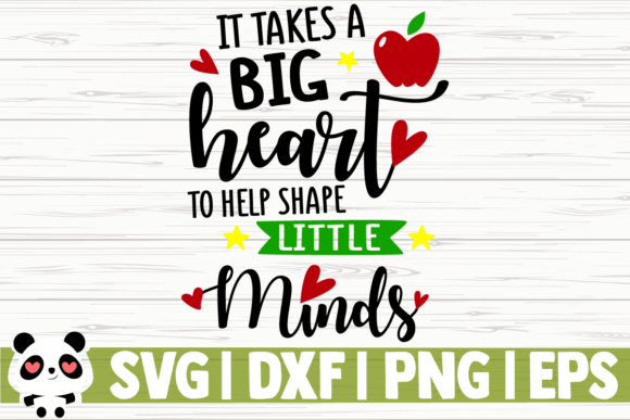 Download Free It Takes A Big Heart To Help Shape Graphic By Creativedesignsllc for Cricut Explore, Silhouette and other cutting machines.
