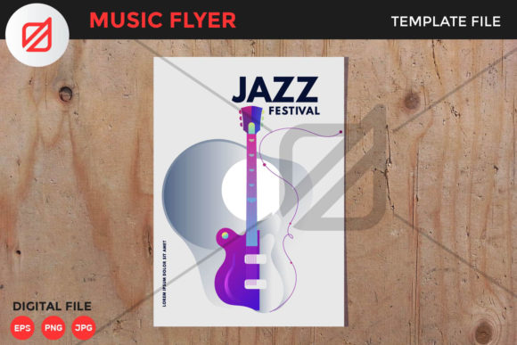Print on Demand: Jazz Music Festival Flyer Template V3 Graphic Print Templates By illusatrian